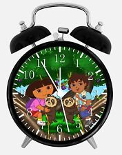 "Diego and Dora Alarm Desk Clock 3.75"" Home or Office Decor Z47 Nice For Gift"