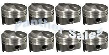 Chevy 7.4 454 Silvolite Hypereutectic Coated Skirt 30cc Dome Pistons Set 8 STD
