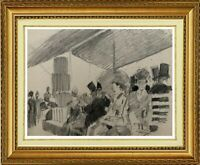 CHARLES WISLIN (1852-1932) BELLE SCENE ANIMEE IMPRESSIONNISTE EN 1879 (664)