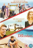 THE BEST EXOTIC MARIGOLD HOTEL WE BOUGHT A ZOO DESCENDANTS 3 DISC FOX UK DVD NEW