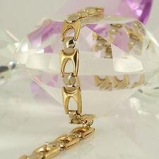 Armband in 750 Gelbgold Weißgold 18K ohne Steinbesatz 8,0 Gramm 19,5 cm