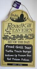 """Roadkill Tavern MDF Wood Sign- Menu Board """"HIT OF THE DAY"""" NWT 9"""" X 16"""""""