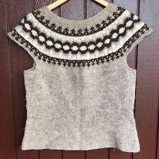 Icelandic Lopi  Vest Size S,Brand New ,Han knit Sweater,Christmas gift,Lopi Vest