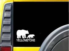 Yellowstone Bear family K310 8 inch decal kodiak grizzly sticker