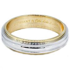 Tiffany & Co Wedding Band Ring Platinum 18k %100 Authentic