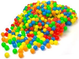 50 - 10.000 Stück Bällebad Bälle ø 5,5 cm Bällebadbälle Bunte Farben (B-Ware)