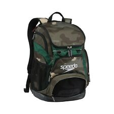 Speedo Large Teamster Backpack Swim Bag 35 L Liter Camo Green New with Tags