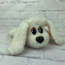 "Mattel Pound Puppies 2004 White 12"" Plush Puppy Dog Stuffed Animal Toy"