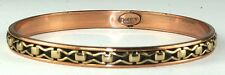 VINTAGE RENOIR NAPOLI COPPER BRASS BANGLE BRACELET BOOK PIECE