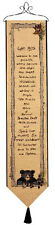 Cabin Rules Tapestry Wall Hanging Bellpull