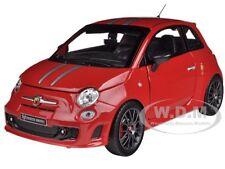 FIAT ABARTH 695 FERRARI TRIBUTE RED 1/24 DIECAST MODEL CAR BY BBURAGO 21070