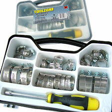 Hose Clamp Jubilee Clip Set Inc Driver Tool assorted Stainless Steel Hose Clamps