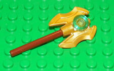 LEGO - LEGEND OF CHIMA - Minifig, Weapon Axe Head, Twin Bladed - Pearl Gold