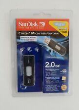 New Guinene San Disk Cruzer Micro USB Flash Drive 2.0 GB