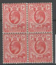 ORANGE FREE STATE SG140 1903 1d SCARLET MTD MINT BLOCK OF 4