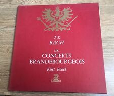 Coffret 2LP BACH Six concertos Brandebourgeois Kurt Redl STU 70129/30 EXC *