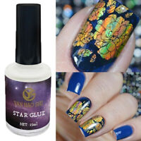 Professional Nail Art Glue Gel Galaxy Star Adhesive For Foil Sticker Transfer
