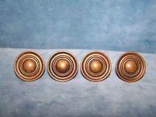 """Lot of 4 Vintage Drawer Cabinet Knobs Copper 1 1/4"""""""