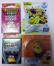Minions Bundle - Crayons, Mega Bloks Figure, and Toy