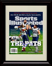 Framed Tom Brady Sports Illustrated Auto Print Patriots SB LI Greatest Victory