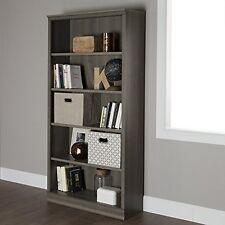South Shore 10154 Morgan 5-Shelf Bookcase Gray Maple NEW