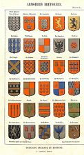 """arms of Brittany"" Blazons polychrome genus illumination heraldry 1845"