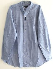 Polo Ralph Lauren Big & Tall Mens 4XB Blue Checks Button-Front Shirt NWT 4XB