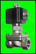 """Magnetventil SVS 1/2"""" V2A 230V50Hz 0-14bar NO Viton Heizung Wasser Luft Industr"""