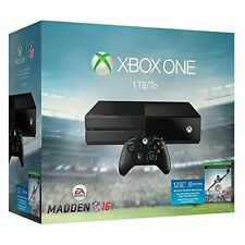Xbox One 1TB Console Madden NFL 16 Bundle Very Good 8Z