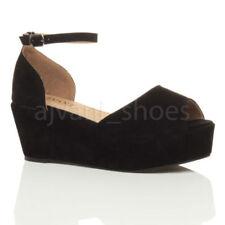 Calzado de mujer sandalias con plataforma de tacón medio (2,5-7,5 cm) Talla 38