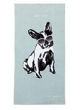 Ted Baker London Hot Dog French Bulldog Beach Towel Limited Edition Blue Nwt