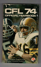 1974 CFL Official Yearbook League infromation  Eskimos Riders Bombers Stampeders