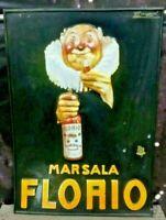 Pubblicita 3D Marsala Florio a.70/80  in plast.  serigrafato Raro cm 68,5 × 48,5