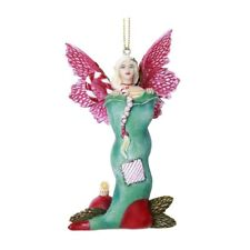 # AMY BROWN Fairy Ornament STOCKING STUFFER Winged Fairie Statue Christmas Decor