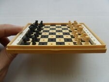 Vintage Soviet USSR Pocket Chess in Original Box 60s 70s