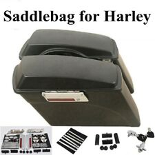 Hard Saddle Bags Luggage+Latch Lids Saddlebag for Harley HD Touring Road Glide