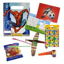 Pre Filled Spiderman Boys Party Bags Ready Made Goody Bags Loot Hero Favours