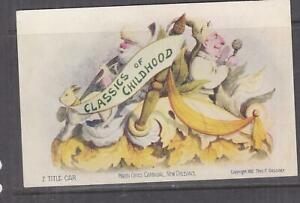 LOUISIANA, NEW ORLEANS, MARDI GRAS CARNIVAL, CLASSICS OF CHILDHOOD, 1907 ppc