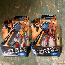 X-Men Origins Wolverine: Deadpool & Colossus Action Figures 2009 MOC