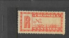 COLOMBIA Sc F10 LH issue of 1889 - REGISTRATION STAMP