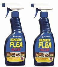 2 x 500ml Household Flea Killing Spray For Cat Dog Bed Carpet Soft Furniture Bed