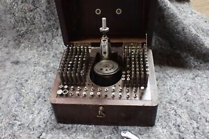 154 Pieces Vintage K & D No. 18 R Watchmakers STAKING SET + box Tool VG used
