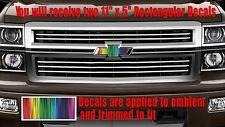 Rainbow Flag Emblem OVERLAY Decals Stickers for Chevy Bowtie Emblem- 2 - U CUT