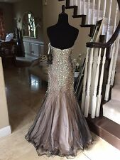 $385 NWT TERANI COUTURE MERMAID PROM/PAGEANT/FORMAL DRESS/GOWN #151P0114 SIZE 0