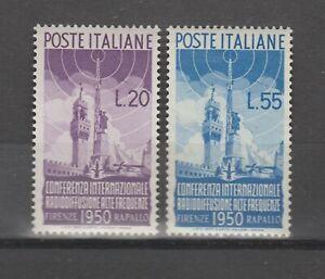 s38083 ITALIA MNH** 1950 Radiodiffusione 2v