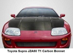 Toyota Supra JZA80 T1 Style Dry Carbon Fiber Bonnet