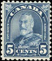 1930 Mint H Canada 5c F Scott #170i King George V Arch/Leaf Stamp