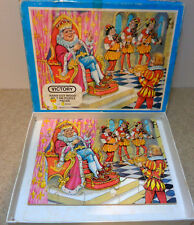 Vintage Victory wooden Jigsaw Puzzle old king cole Nursery rhyme series 20 pcs