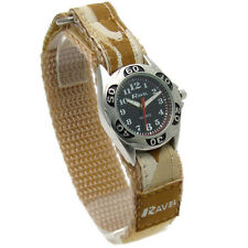 Kids Boys Girls Childrens Army Camouflage Watch With Strong Active Grip Strap Style 7 - Ravel Khaki Camo