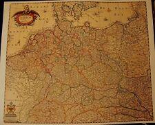 5Hist. Landkarte Germania  Deutschland Ostpreußen, Schlesien, Böhmen, 1658